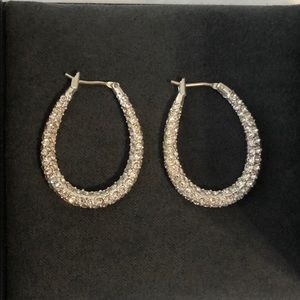 Nadri Silver and Pave Earrings